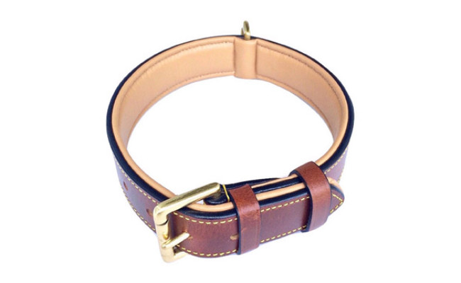 Soft Touch Collars Leather Dog Collar