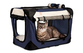 """Soothing """"Happy Cat"""" Premium Soft Sided Cat Carrier by PetLuv"""