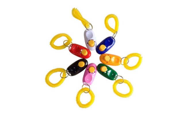 SunGrow 7 Dog Clickers with Wrist Bands