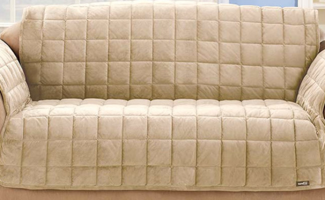 SureFit Deluxe Furniture Dog Couch Cover