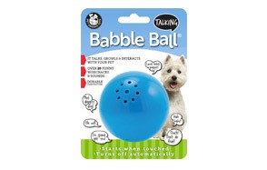 Talking Babble Ball Dog Toy by Pet Qwerks