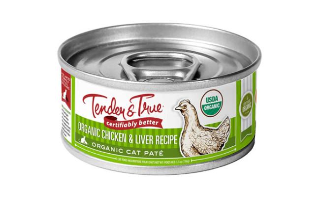 Tender & True Organic Chicken & Liver Recipe Canned Cat Food