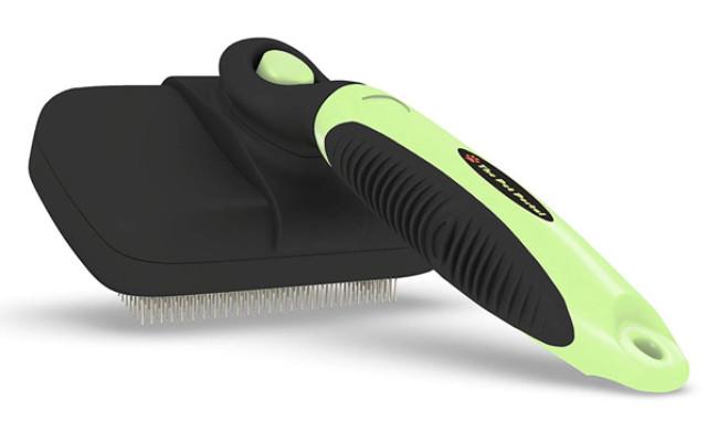 The Pet Portal Self Cleaning Slicker German Shepherd Brush
