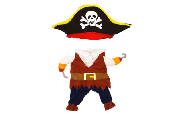 Topsung Cool Caribbean Pirate Pet Halloween Costume