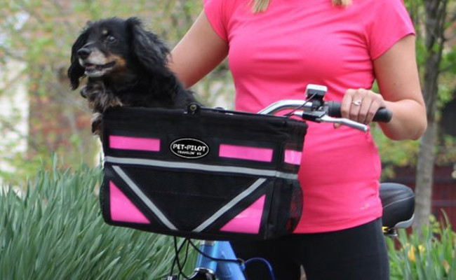 Travelin K9 Pet-Pilot Dog Bike Basket