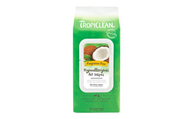 TropiClean Dog Hypoallergenic Wipes