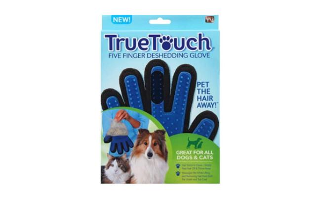 True Touch Five Finger Deshedding Dog Glove