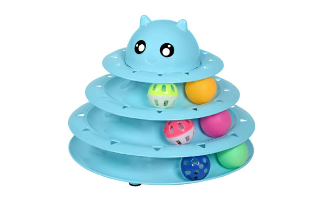 UPSKY Roller 3-Level Turntable Cat Toy