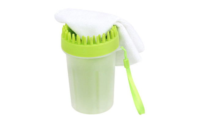 Upgrade 2 in1 Dog Paw Cleaner & Pet Grooming Brush
