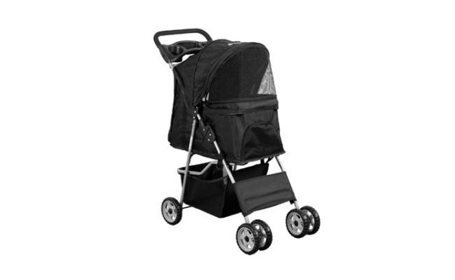 Vivo Black 4 Wheel Cat Stroller