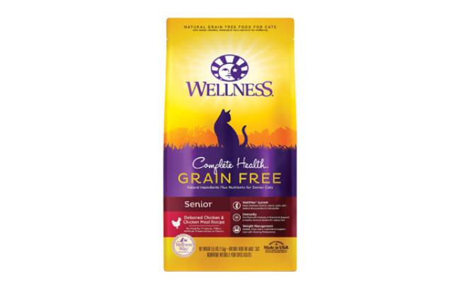 Wellness Complete Health Chicken & Deboned Chicken Grain-Free Senior Dry Cat Food