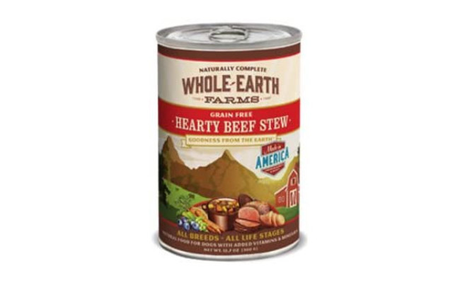 Whole Earth Farms Hearty Beef Stew Canned Dog Food