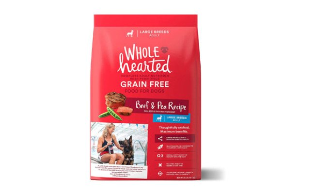 WholeHearted Beef and Pea Recipe Adult Dog Food