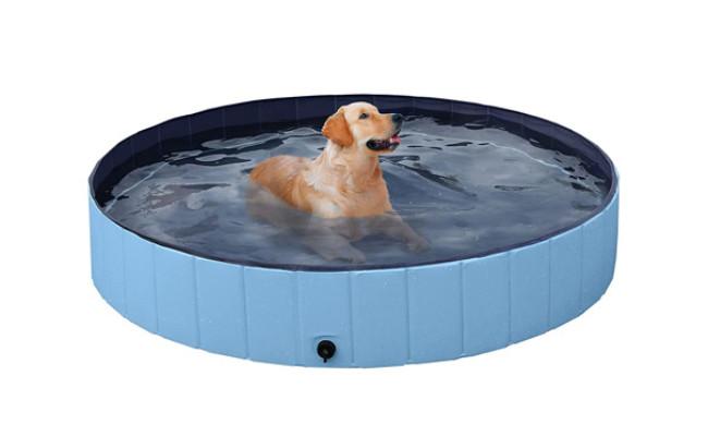 YAHEETECH Foldable Hard Plastic Dog Swimming Pool