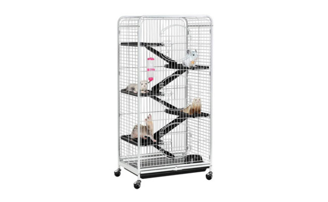 YAHEETECH Multi Levels Rolling Large Ribbit Bunny Cage