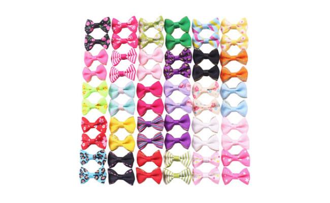 YAKA Dog Small Bowknot Hair Bows
