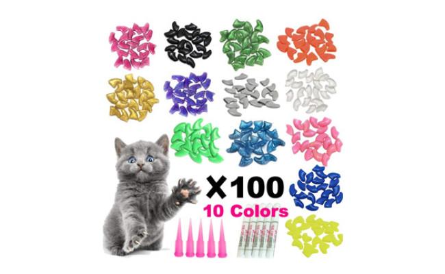 YMCCOOL 100pcs Cat Nail Caps