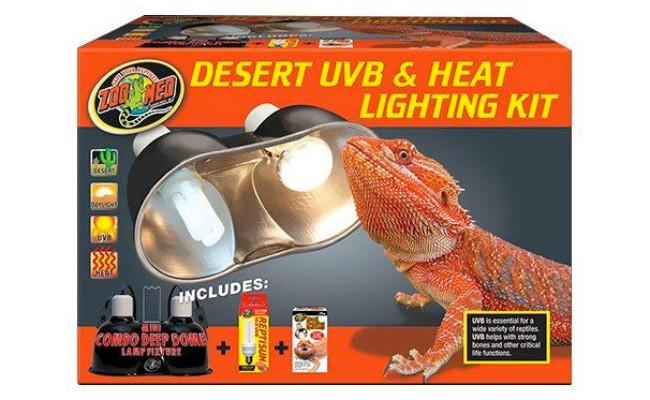 Zoo Med Desert UVB & Heat Lighting Dual Kit