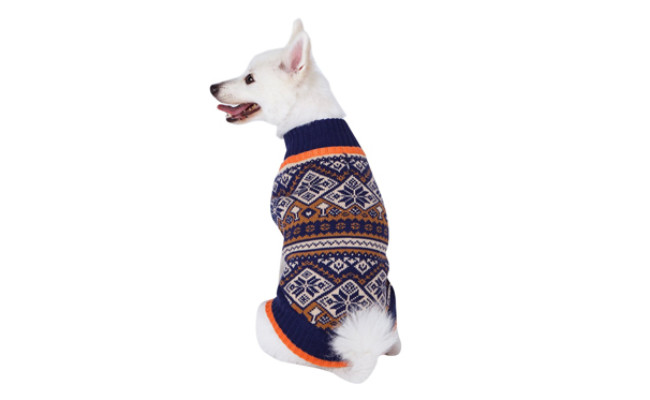 blueberry pet snowflake dog sweater