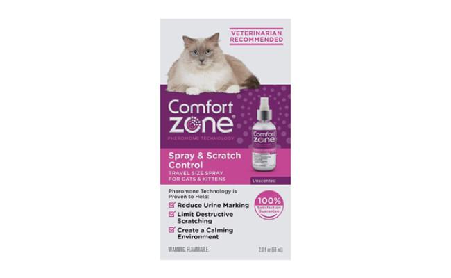 comfort zone cat calming spray