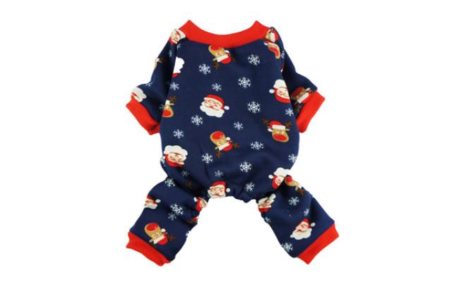 fitwarm christmas dog pajamas