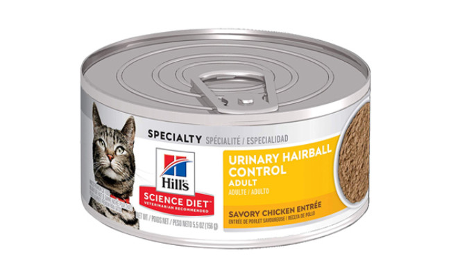 hills science urinary hairball control