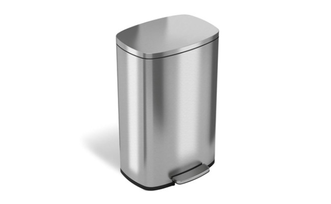 itouchless stainless steel trash can