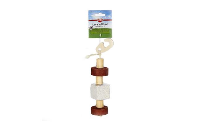 lava n wood guinea pig toy
