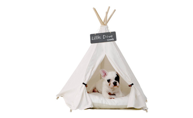 little dove dog teepee bed