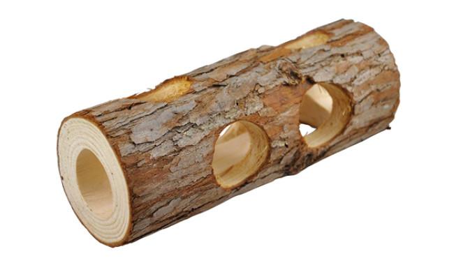 Niteangel Natural Wooden Hamster Tunnel