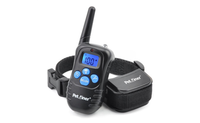 petrainer rechargeable remote dog training collar