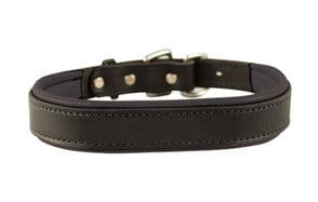 premium pick leather dog collar