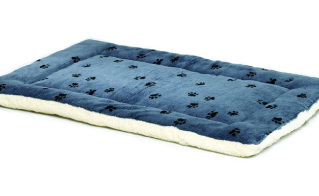 reversible paw print pet bed