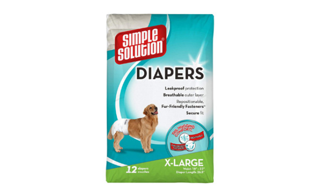 simple solution dog diapers