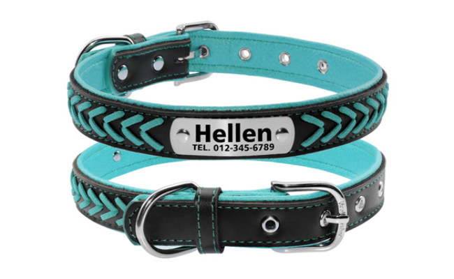 vcalabashor dog leather collar