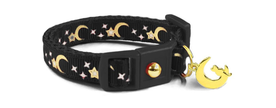 waaag Gold Moons Stars Cat Collar