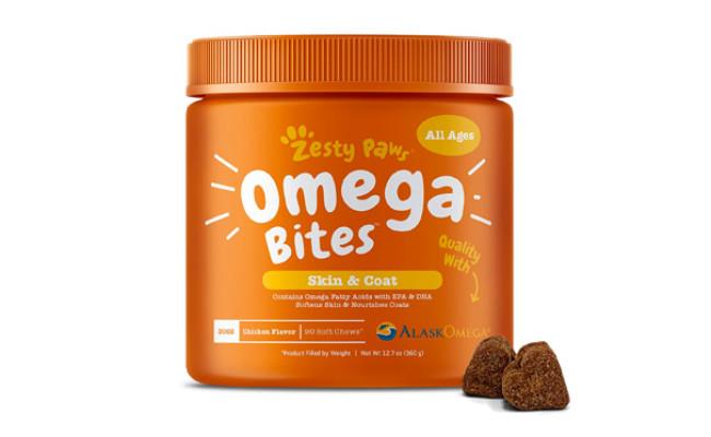zesty paws omega bites dog food for seizures