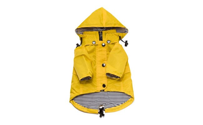 zip up dog raincoat